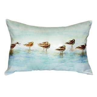Avocets No Cord Throw Pillow
