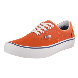 Vans Men's Era Pro Orange Suede Skate Shoes