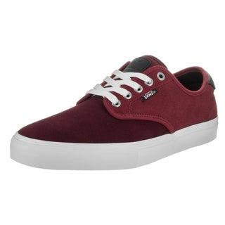 Vans Men's Chima Ferguson Red Suede Two-tone Pro Skate Shoes