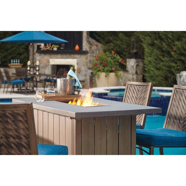 Prime Shop Partanna Outdoor Bar Table With Fire Pit Gray Brown Home Interior And Landscaping Spoatsignezvosmurscom