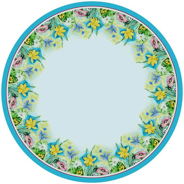Great Florals 68 Inch Round Tablecloth   Free Shipping Today   Overstock.com    21150031