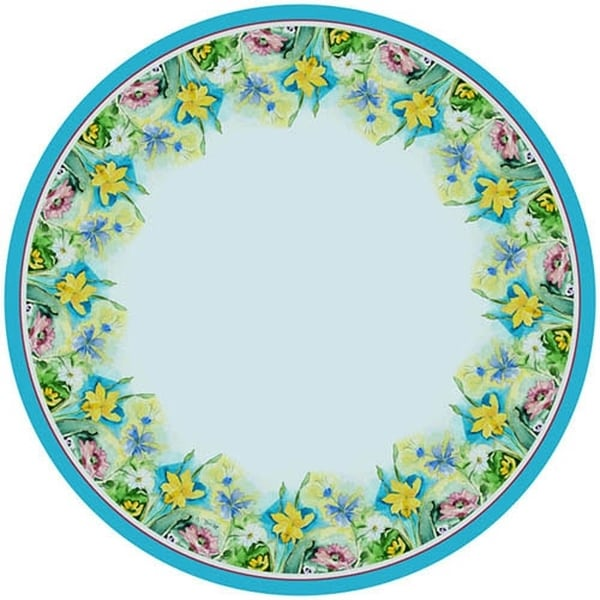 Attractive Florals 68 Inch Round Tablecloth
