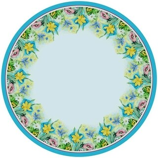 Florals 68-inch Round Tablecloth