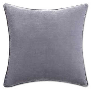 Tracy Porter Alouette Solid Purple Velvet 20-inch x 20-inch Feather Filled Throw Pillow