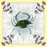 Female Blue Crab 52-inch Square Tablecloth