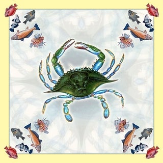 Female Blue Crab 52-inch Square Tablecloth