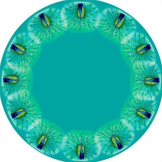Peacock Round Tablecloth (68-inch)