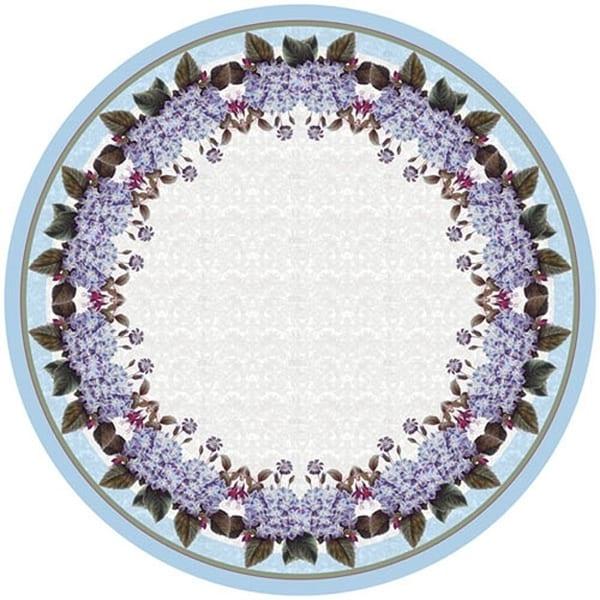 Betsy Drake Hydrangea 68 Inch Round Tablecloth