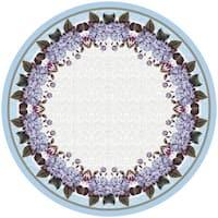 Betsy Drake Hydrangea 68-inch Round Tablecloth