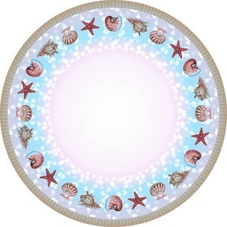 Betsy Drake Shells Round Tablecloth