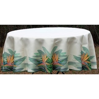 Betsy Drake Bird of Paradise Flower Round Tablecloth