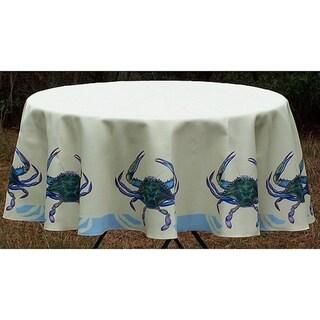 Betsy Drake Blue Crab Round Tablecloth