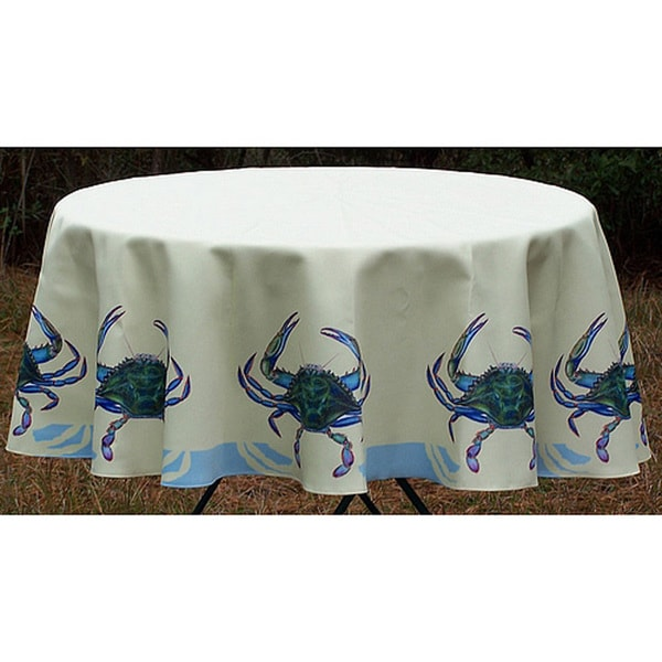 Blue Crab 58 Inch Round Tablecloth