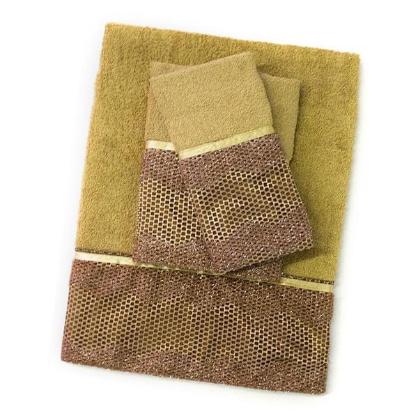 Chateau 3 Piece Towel Set- Bronze