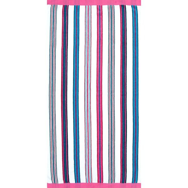 St.Tropez Sands Fuchsia Blue Beach Towel Collection