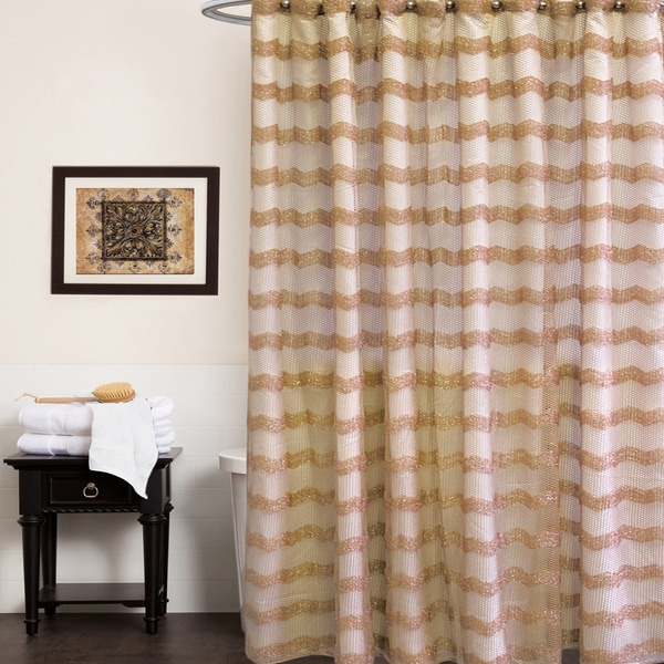 Chateau Shower Curtain and Hooks Set or Separates- Bronze