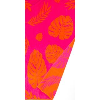 St.Tropez Sands Orange Leaf Beach Towel Collection