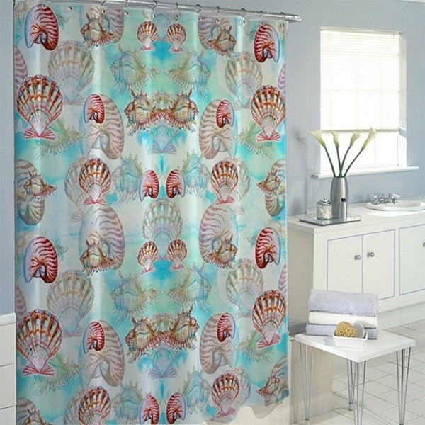 Multi Shells Shower Curtain