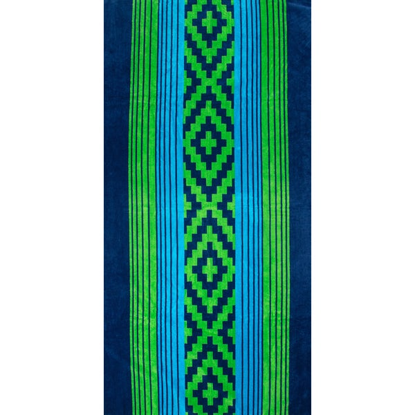 St.Tropez Sands Aztex Blue Green Beach Towel Collection