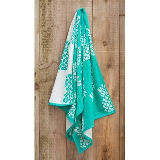 St.Tropez Sands White Pineapple Beach Towel