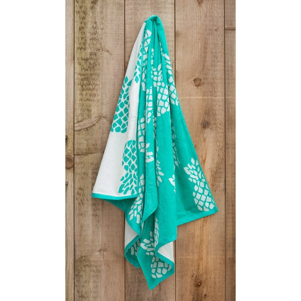St.Tropez Sands White Pineapple Beach Towel Collection