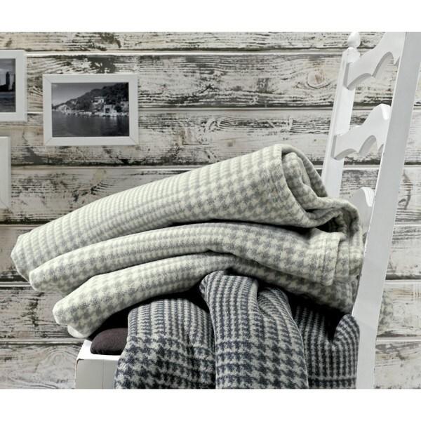 Deluxe Cotton Wool Glen Plaid Oversized Throw