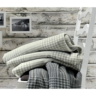 Deluxe Cotton Wool Glen Plaid Oversized Throw
