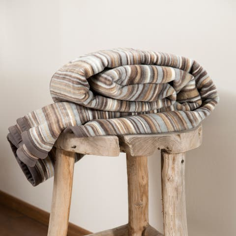 IBENA Antwerpen Natural Stripes Oversized Throw