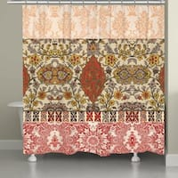 Laural Home Boho Red Tapestry Shower Curtain