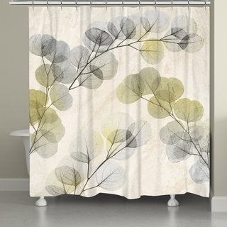 Laural Home Smoky Eucalyptus Fronds Shower Curtain