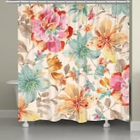 Laural Home Rich Blossoms Multicolor Shower Curtain
