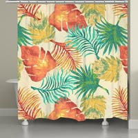 Laural Home Multicolored Palm Leaves Shower Curtain