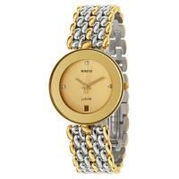 Rado Men's Florence Gold Plated Swiss Quartz Watch - Gold/Silver