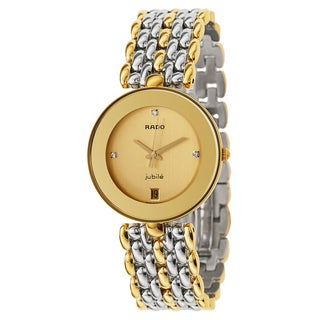 Rado Men's Florence Gold Plated Swiss Quartz Watch - Gold/Silver