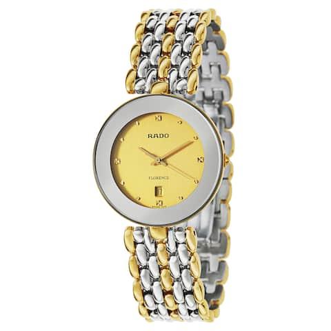 Rado Men's Florence Goldplated Swiss Quartz Watch - Gold