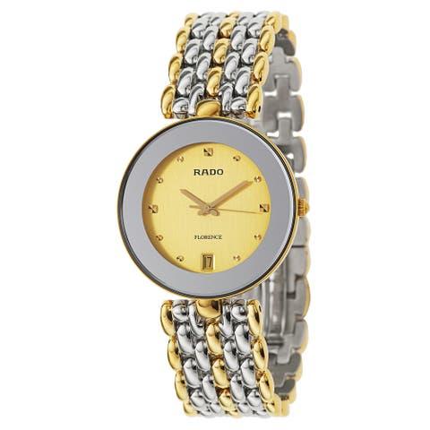 Rado Men's Florence Two-tone Swiss Quartz Watch - Gold/Silver