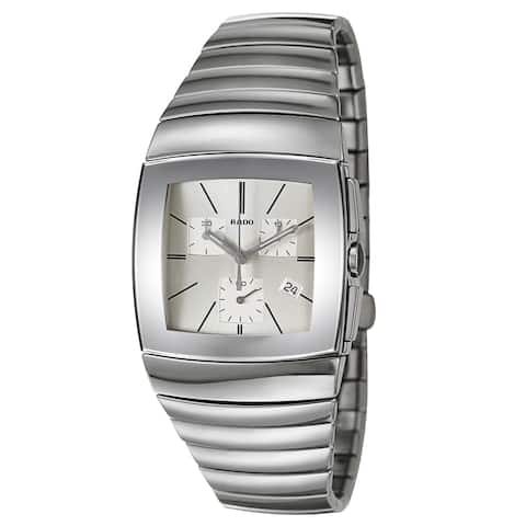 Rado Men's Sintra Ceramic Swiss Quartz Watch - Silver