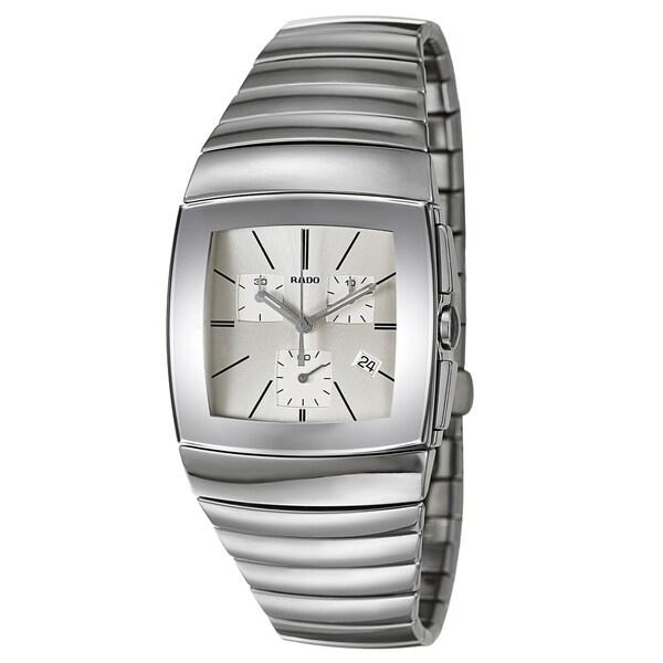11e4e5c3f Shop Rado Men's Sintra Ceramic Swiss Quartz Watch - Silver - Free ...