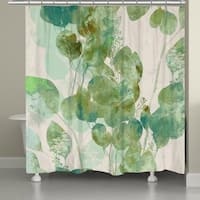 Laural Home Emerald Eucalyptus Shower Curtain