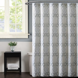 Christian Siriano Grey Ikat Print Shower Curtain