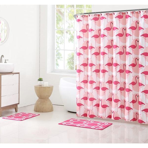 Clairebella Flamingos 15-piece Bath Set