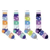 Dmitry Men's 'Hogs on the High' Colorful Patterned Italian Socks (Pack of 4)