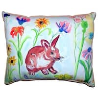 Whiskers Bunny Zippered Throw Pillow