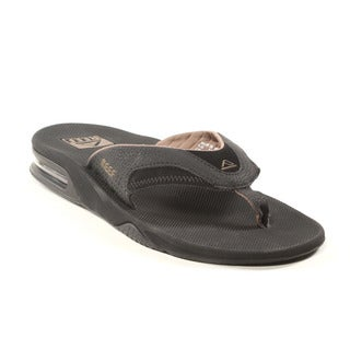 Reef Men's Black and Brown Fanning Sandals