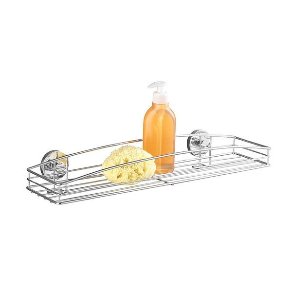 Wenko Vacuum-Loc Maxi Milazzo Steel Wall Shelf