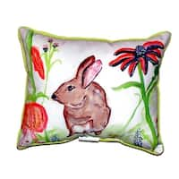 Brown Rabbit Left Zippered Throw Pillow