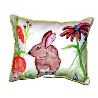 Brown Rabbit Left Indoor/ Outdoor Throw Pillow