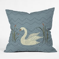 Pimlada Phuapradit Winter Swan Throw Pillow