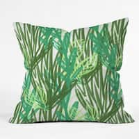 Allyson Johnson Abstract Greenery Throw Pillow