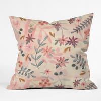 Wonder Forest Feminine Floral Throw Pillow